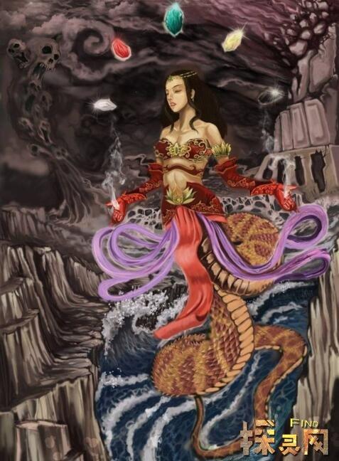 关于我们祖先的故事_女娲真身吓人图片,恐怖的人头蛇身怪(蛇或是人的祖先) — 探灵网